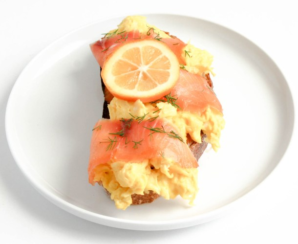 Smoked Salmon Scramble