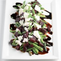 Asparagus Beets and Goat Cheese Salad