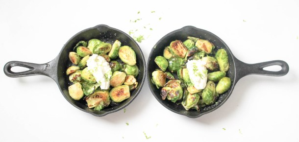 Lime Laced Brussels Sprouts by Diverse Dinners