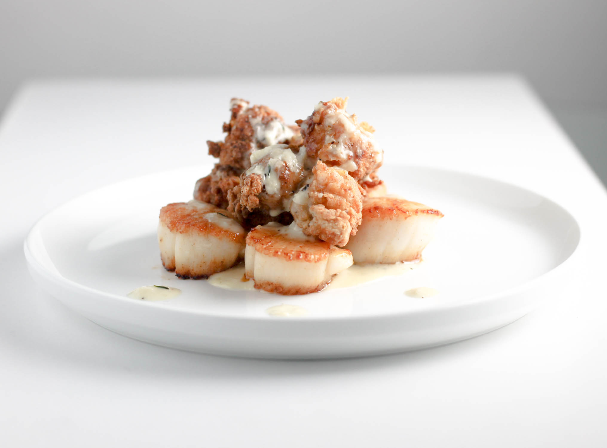 Scallops Lobster and Garlic Sauce   DIVERSE DINNERS
