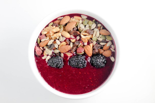 Berry Beet Smoothie Bowl by Diverse Dinners