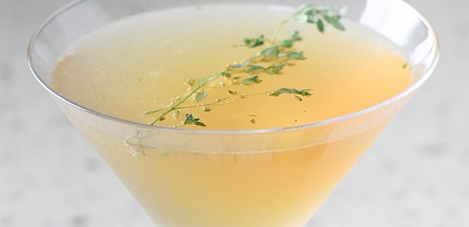 Thyme Tequila Fizz by Diverse Dinners