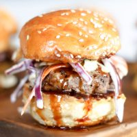 Bourbon BBQ Sliders with Coleslaw