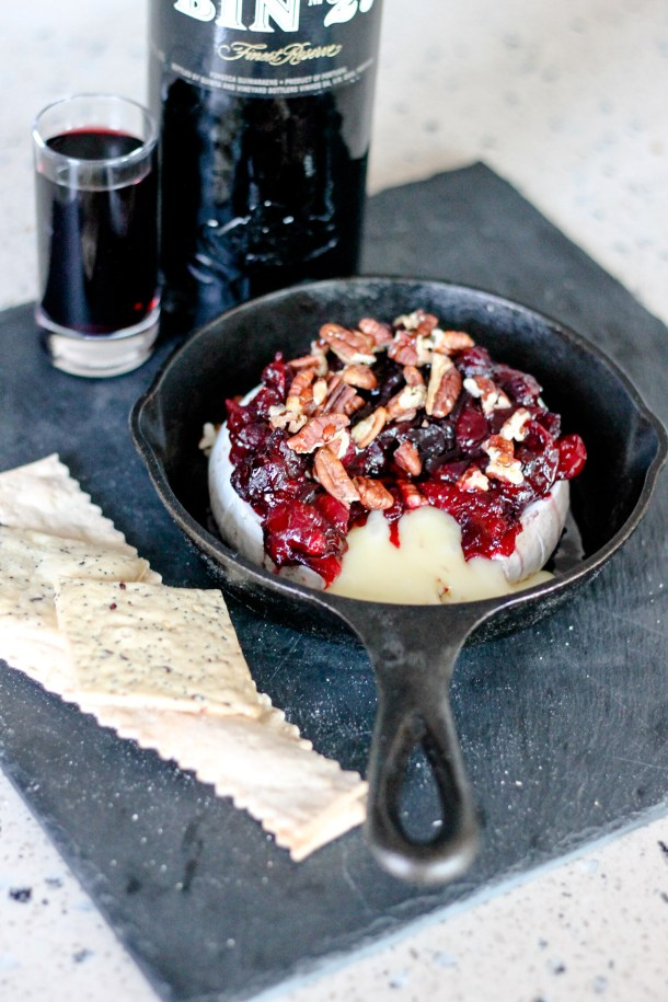 Cranberry Pecan Baked Brie by Diverse Dinners
