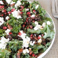 Kale Pomegranate Goat Cheese Salad