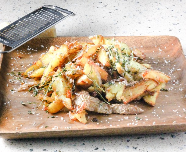 Parmesan Thyme Truffle Fries by Diverse Dinners