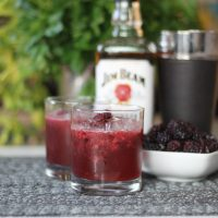Passionfruit Blackberry Bourbon Cocktail