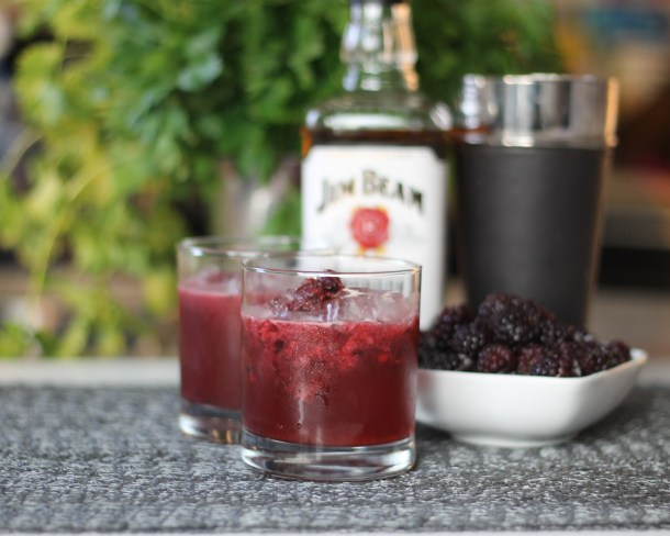 Passionfruit Blackberry Bourbon Cocktail by Diverse Dinners