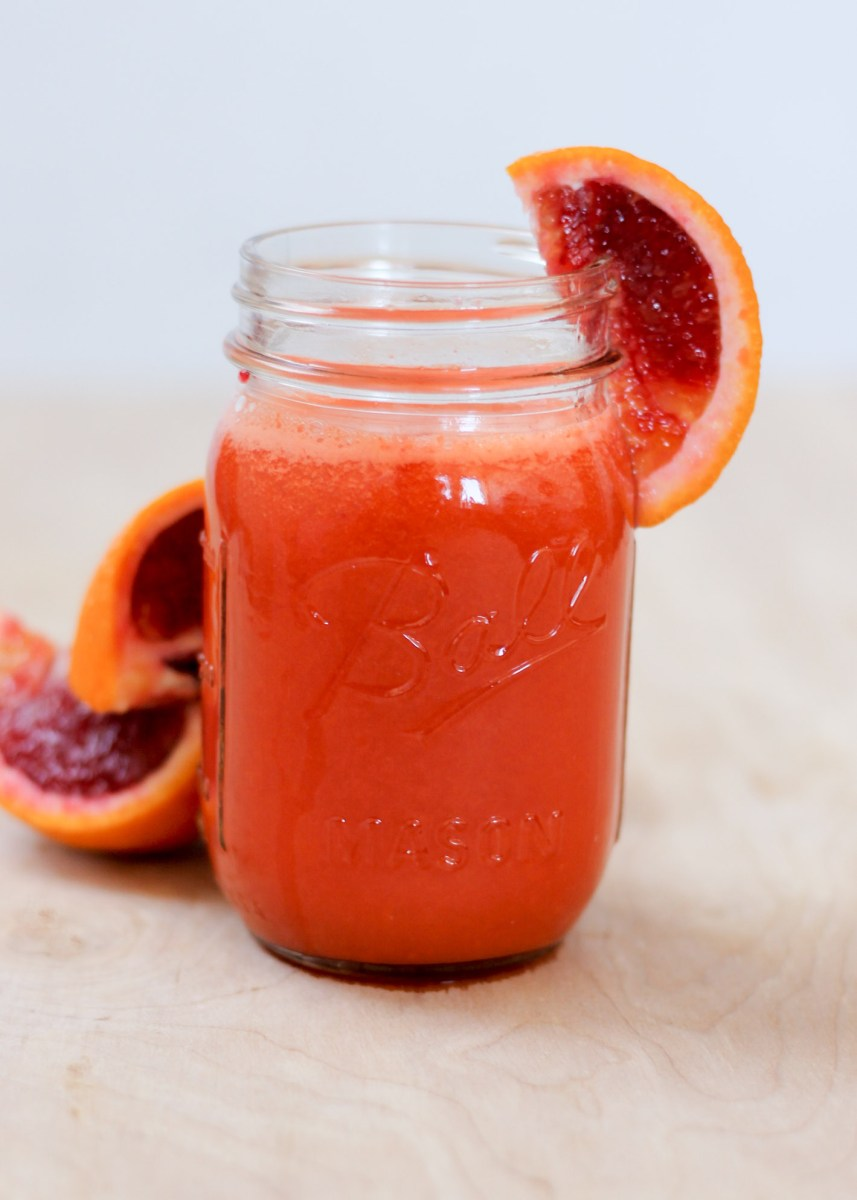 Blood Orange Carrot Turmeric Detox Juice