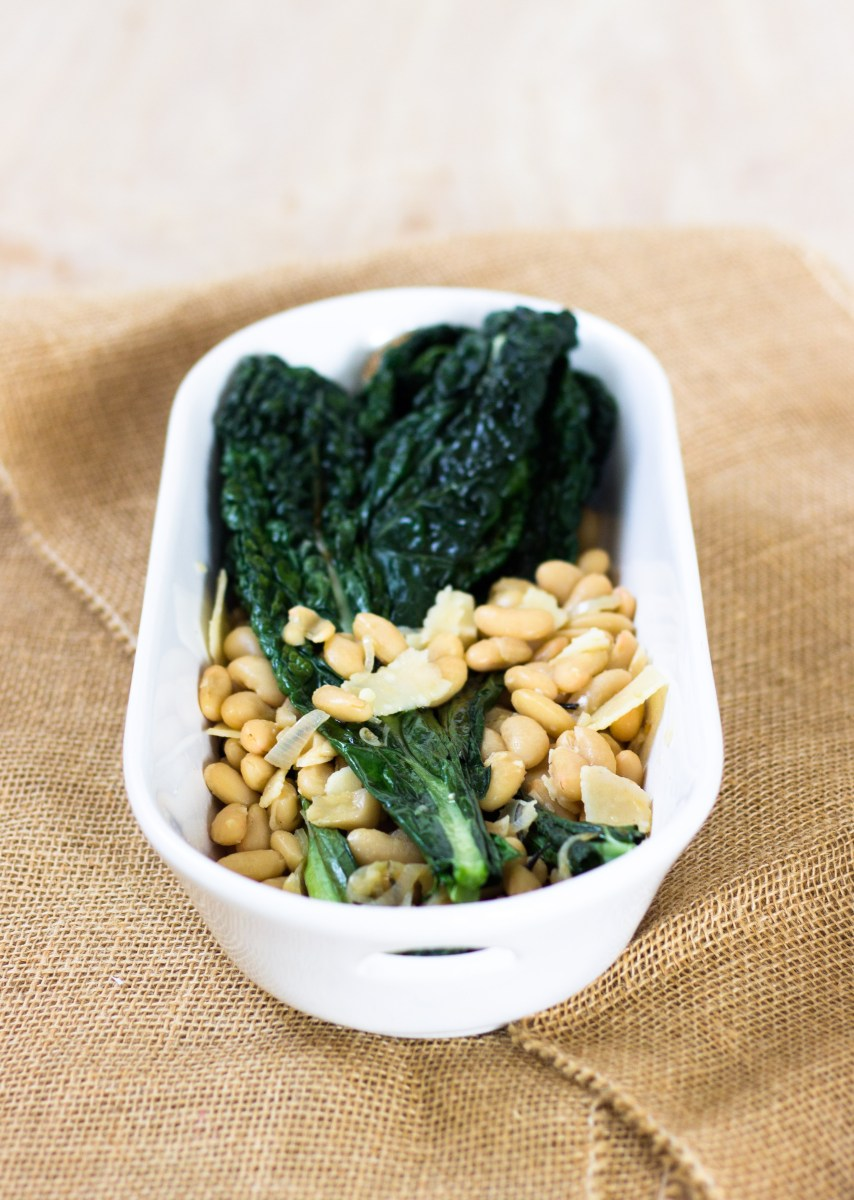 Warm Lacinato Kale and Cannellini Beans