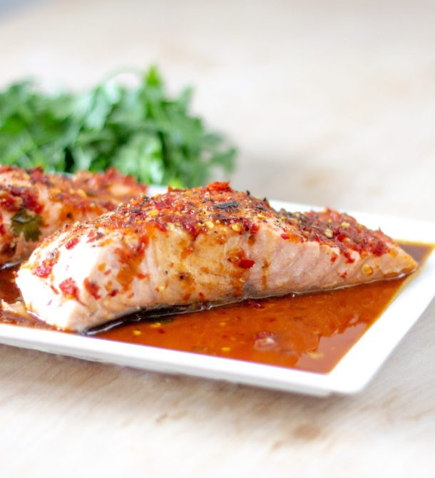 Baked Spicy Salmon by Diverse Dinners