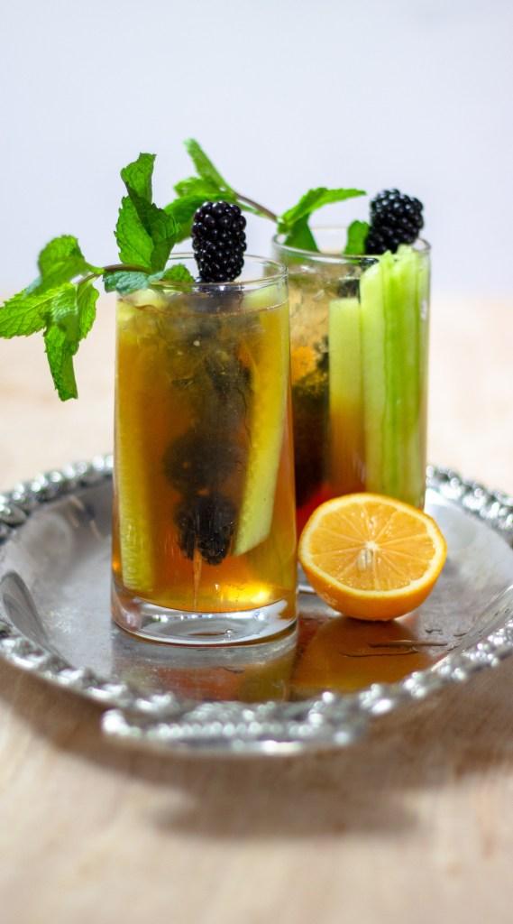 Lemon Elderflower Pimm's by Diverse Dinners