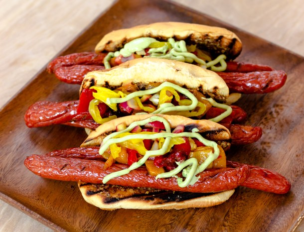 Peppered Hot Dogs by Diverse Dinners