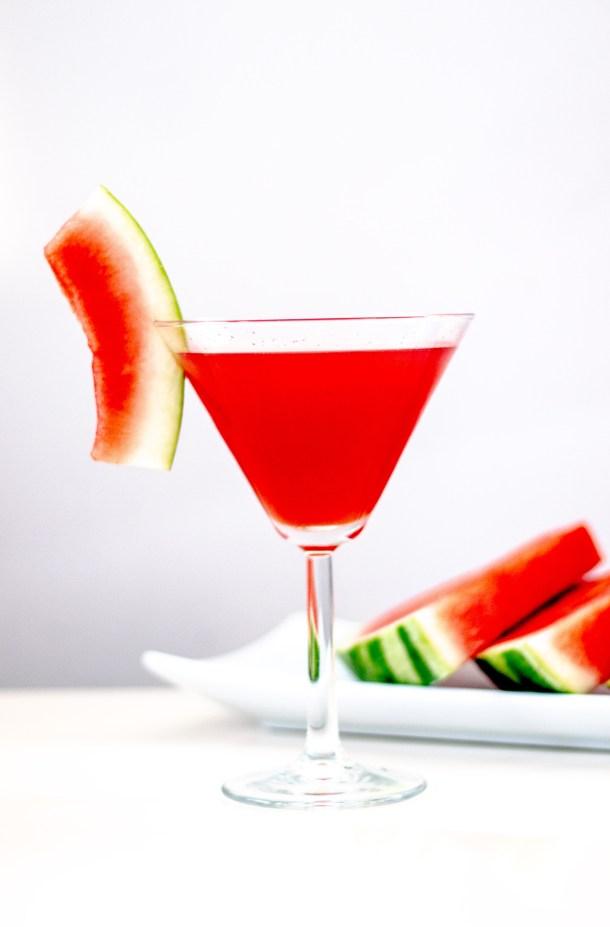 Organic Watermelon Cucumber Martini by Diverse Dinners