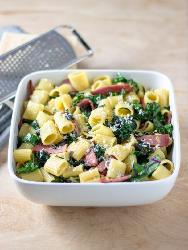 Hot Coppa Kale Rigatoni by Diverse Dinners