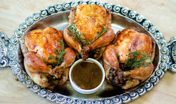 Apricot Stuffed Cornish Hens by Diverse Dinners