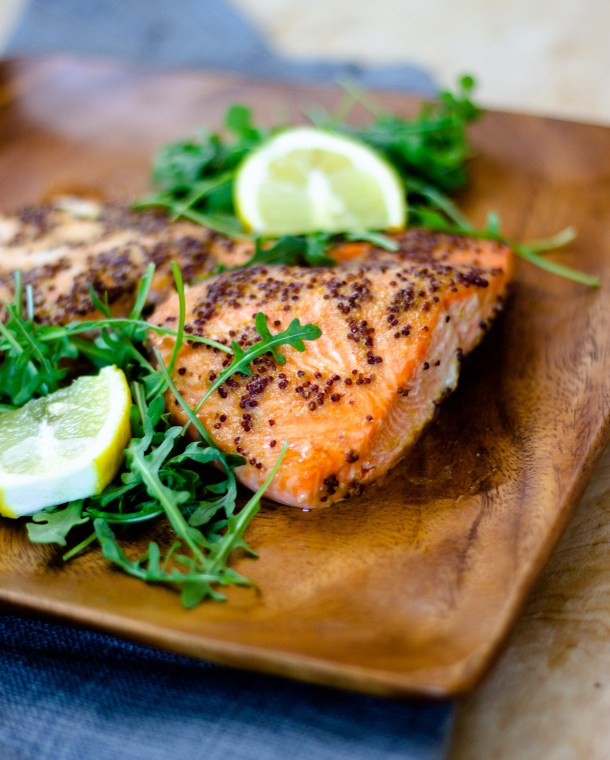 Baked Honey Mustard Salmon by Diverse Dinners