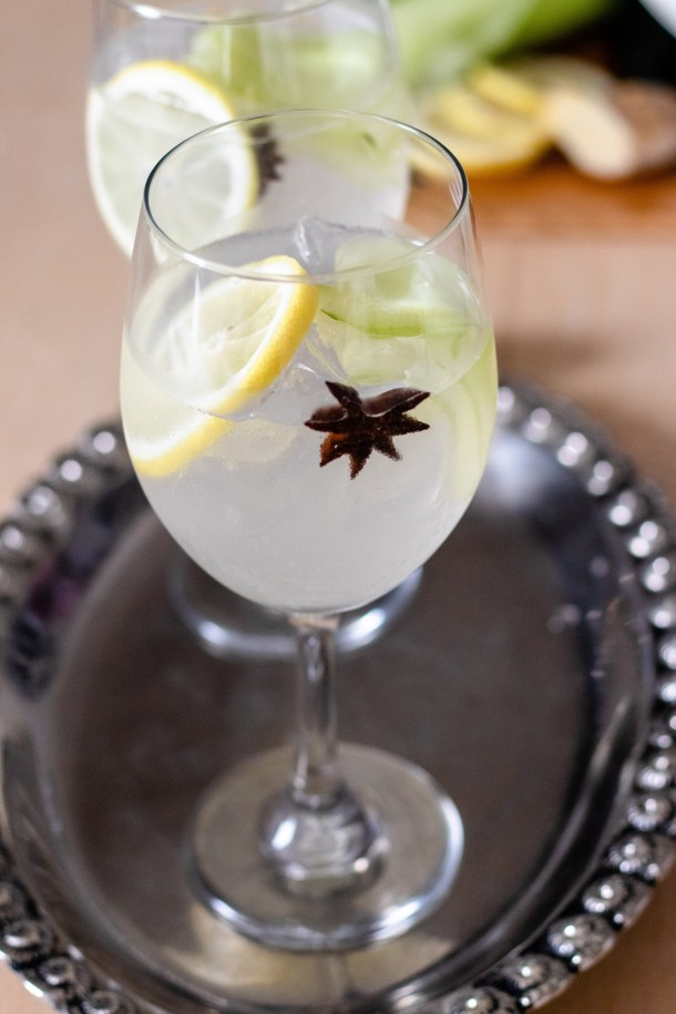 Detox Gin Tonic by Diverse Dinners