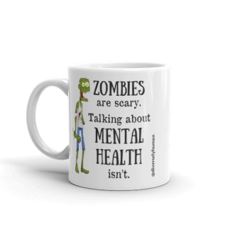 zombies are scary mental health mug