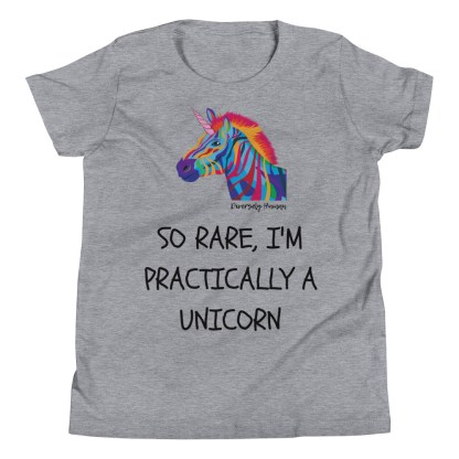 rare unicorn kids shirt grey