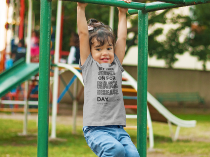 Get Your Stripes On For Rare Disease Day Kids T-Shirt