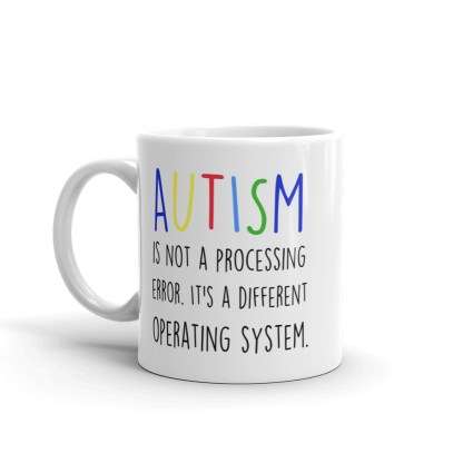 Autism is not a processing error Mug