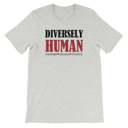 Diversely Human logo t-shirt athletic heather
