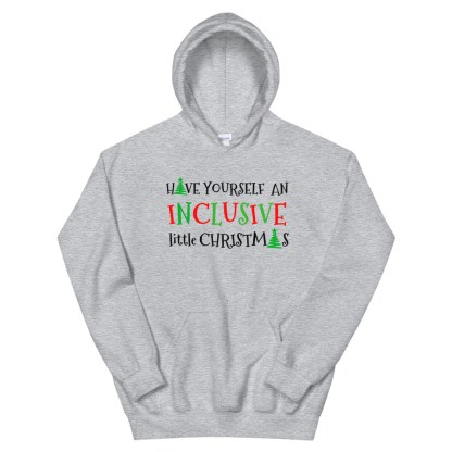 inclusive little christmas hoodie grey