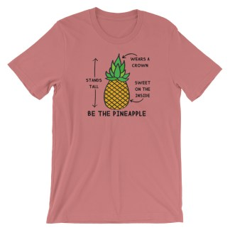 be the pineapple shirt mauve