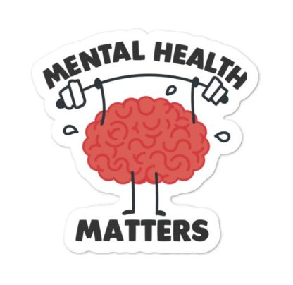 Mental Health Matters Brain sticker
