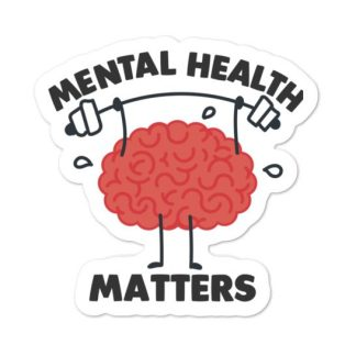 Mental Health matters sticker mockup
