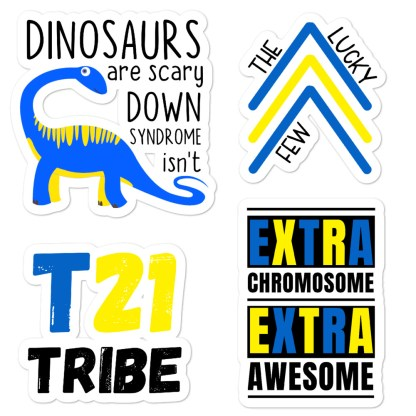Down Syndrome awareness sticker pack