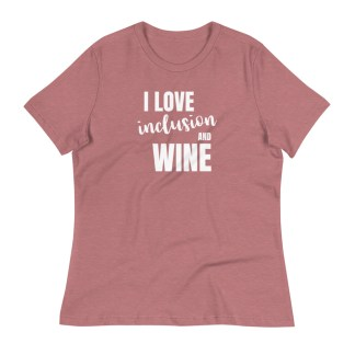 inclusion and wine shirt