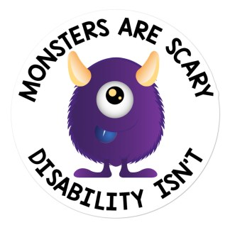 monsters are scary disability isn't sticker 5x5