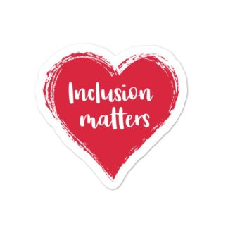 Inclusion matters sticker mockup