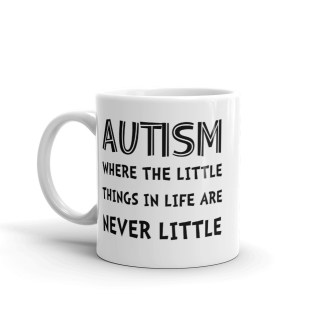 autism little things mug