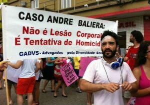 André Baliera foi agredido por duas pessoas em 2012 quando voltava a pé para casa