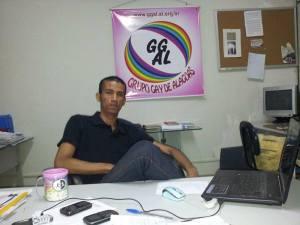 Nildo Correia, Presidente do Grupo Gay de Alagoas - GGAL