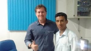 Marx Beltrão - Ministro do Turismo e Nildo Correia - Pres. do Grupo Gay de Alagoas