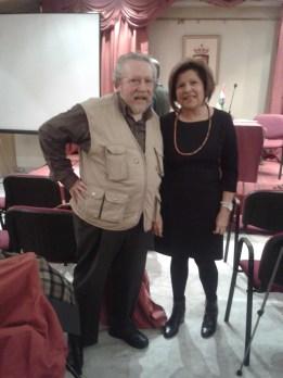 El Profesor Chazarra con Julia Martínez