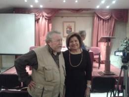 Julia Martínez en el Centro Riojano en la conferencia que dió El Profesor Chazarra. Con Julia Martínez en la foto.