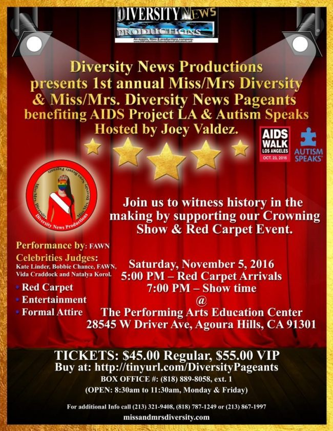 Diversity News Productions Focus on Diversity with Expansion of Diversity Pageants USA