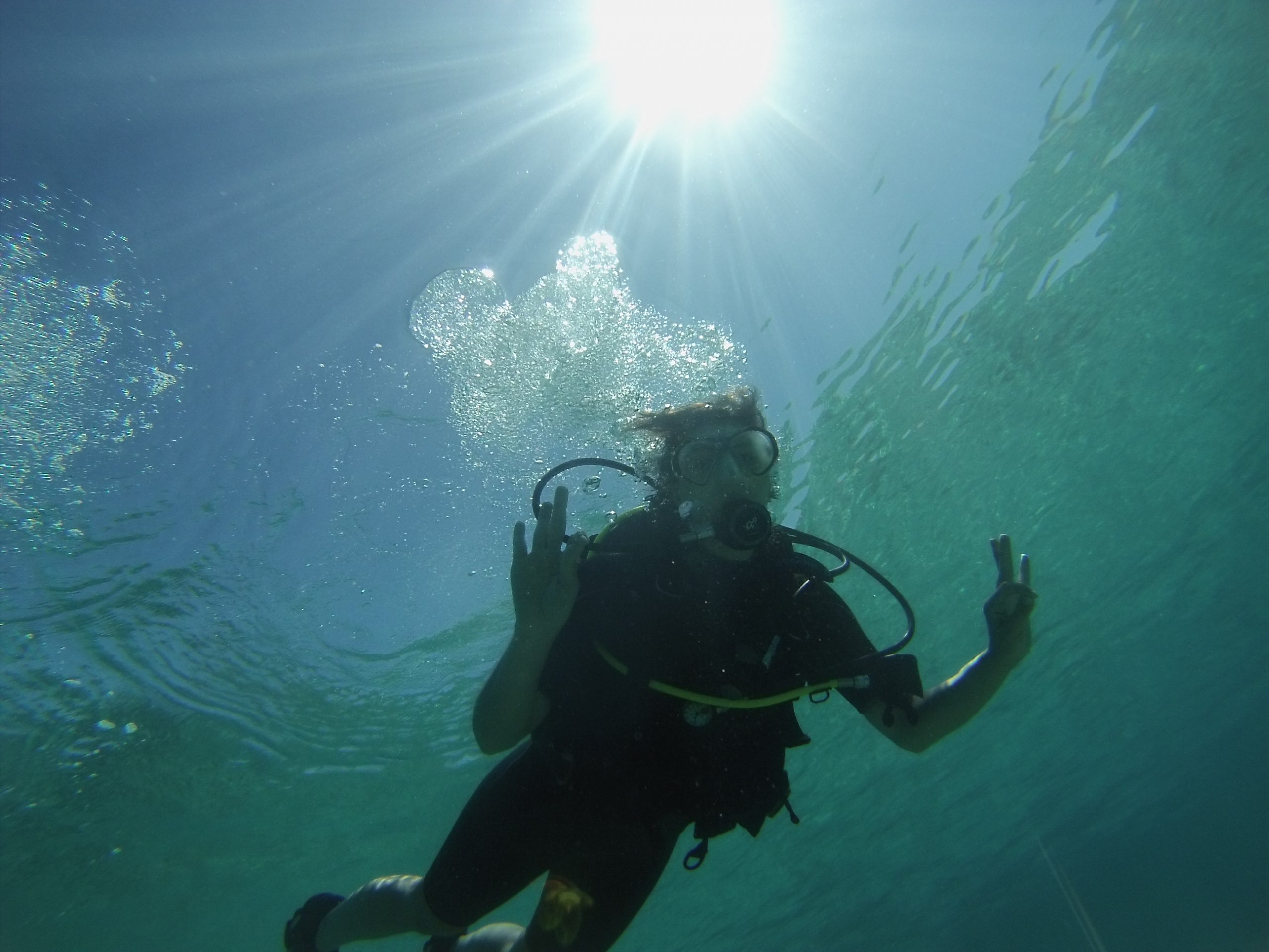 Diver close to the surface