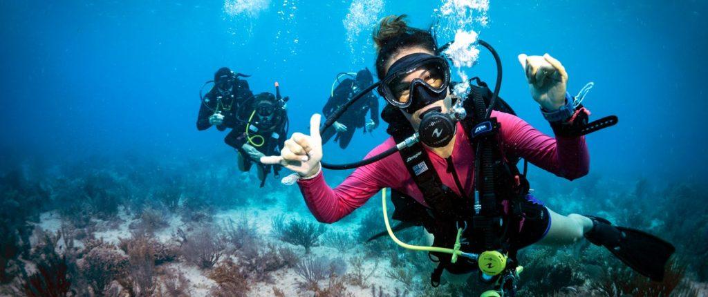Diver feeling accomplished