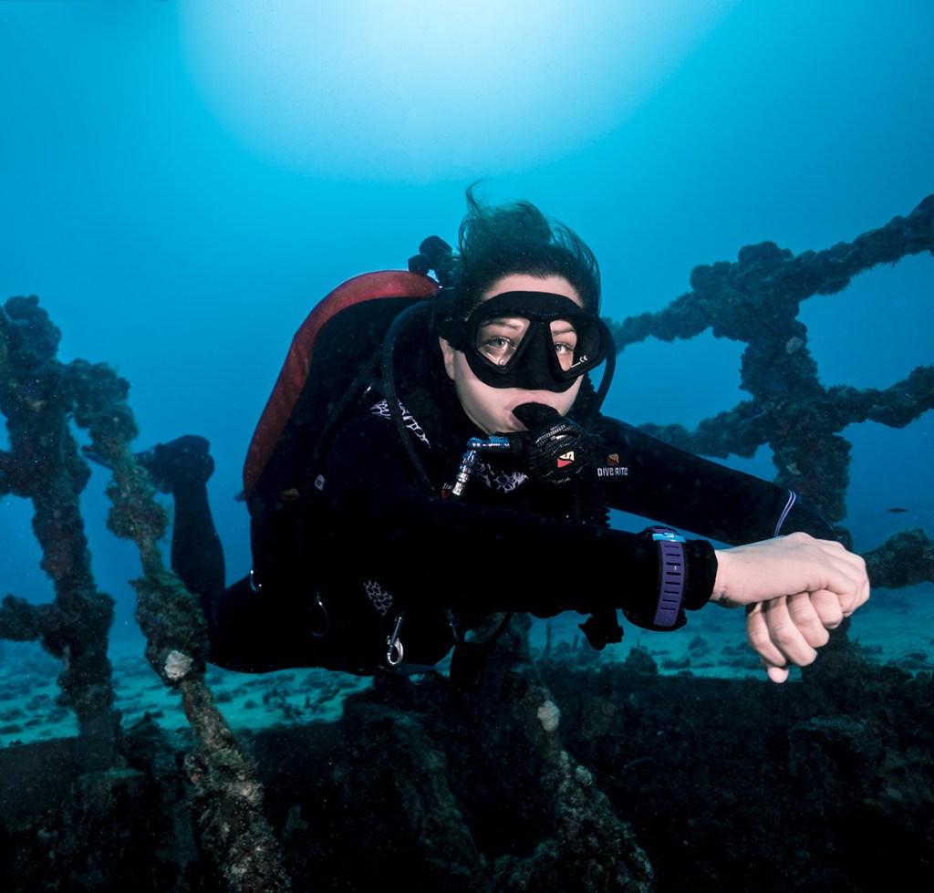 SDI Diver on Wreck