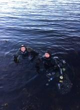 Flere fornøyde dykkere :)