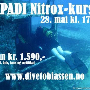 PADI Nitrox-kurs 28. mai