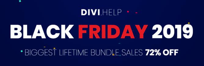 Divi Help Black Friday sale 2019