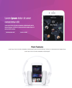 Divi App Home Section