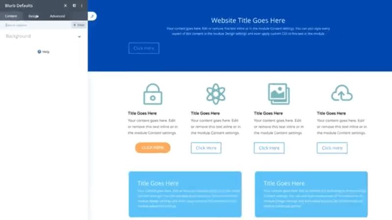 Snabbare webbdesign med Divi global defaults 2